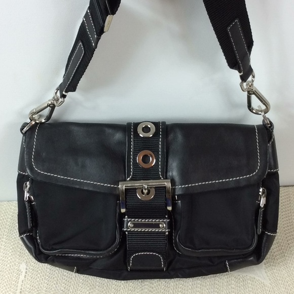 1084911cd61 Prada black leather and nylon Vela Sport bag. M 5ac7c1a061ca10f3b4b37163